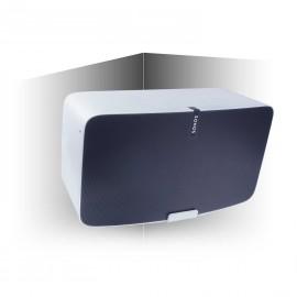 Vebos angle support mural Sonos Play 5 gen 2 blanc 20 degrés