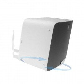 Vebos support mural Sonos Play 5 gen 2 tournant 20 degrés blanc