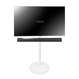 Vebos Pied d'enceinte télévision Yamaha Musiccast Bar 400 blanc