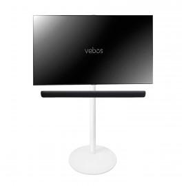 Vebos Pied d'enceinte télévision Yamaha YAS 109 Sound Bar blanc